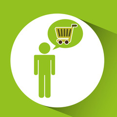 symbol recycle cart buy design vector illustration eps 10