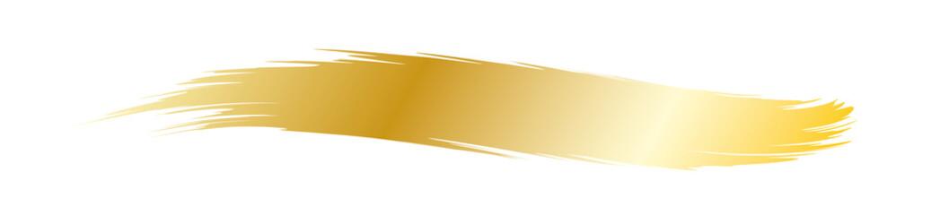 Goldener Strich mit dem Pinsel - Dekoration zur Unterstreichung