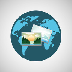 concept globe image photo social media vector illustration eps 10