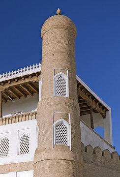 Ark fortress gate in Bukhara, Uzbekistan