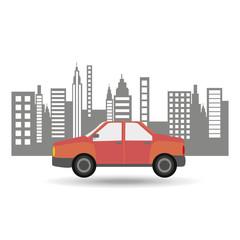 car sedan city background design vector illustration eps 10