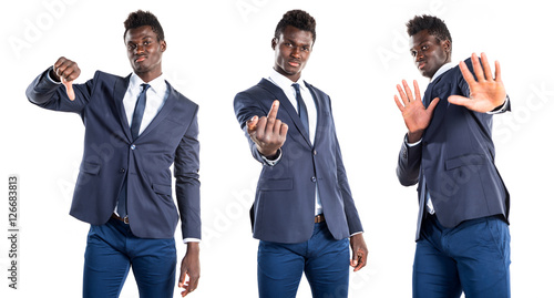 quotfrightened handsome black manquot stock photo and royalty
