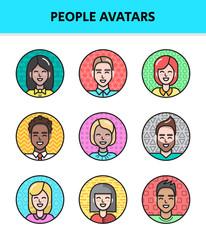 outline people avatars