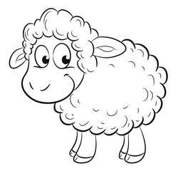 Niedliches Schaf