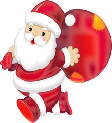 fun santa cartoon