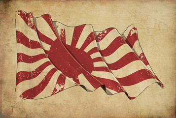 Japan Naval Ensign Historic flag Background Wallpaper.