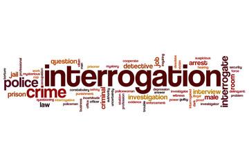 Interrogation word cloud
