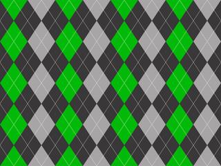 Gray green fabric argyle seamless pattern