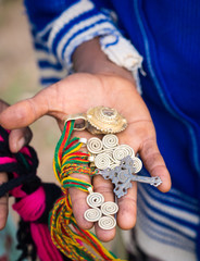 souvenirs sold by local children close to Axum, Ethiopia.