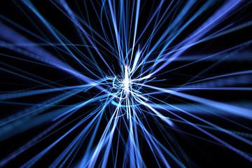 Fotoväggar - blue dynamic modern abstract wave energy streaks