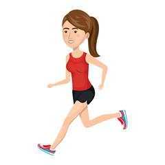 woman running character athlete vector illustration design