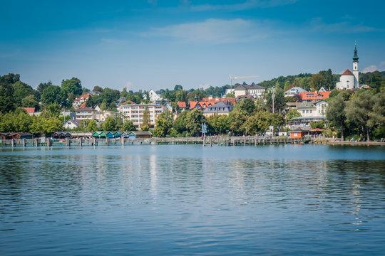 Blick auf Starnberg, Bayern, Deutschland