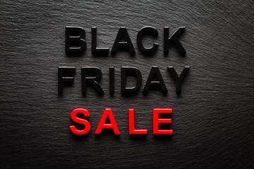 Black Friday Sale on dark slate background
