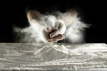 flour and hands