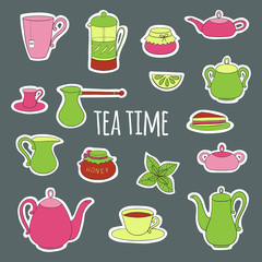 Set for tea party