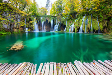 Waterfalls of Plitvice National Park Wall mural