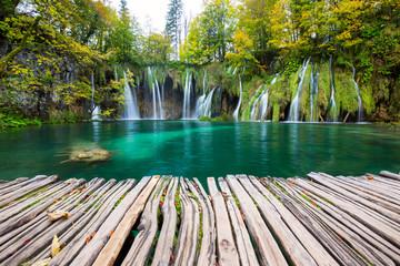 Türaufkleber Wasserfalle Waterfalls of Plitvice National Park