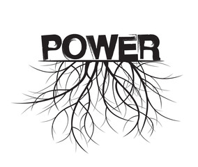 Power and Roots. Vector Illustration.