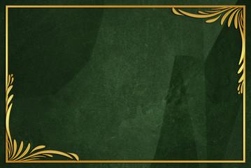 dark green wrinkled paper background with frame