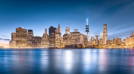 Lower Manhattan, view from Brooklyn Bridge Park in New York City