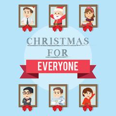 christmas for everyone illustration