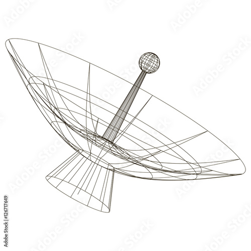 diagram of a radio telescope