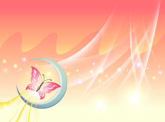 Background Collection Vol.01_Butterfly under the moonligh