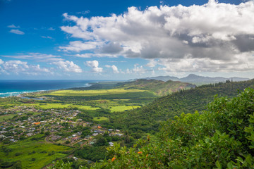 Fototapete - View of west coast of Kauai Island, Hawaii