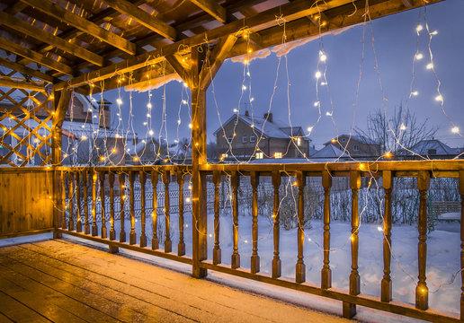 Terrace in Christmas