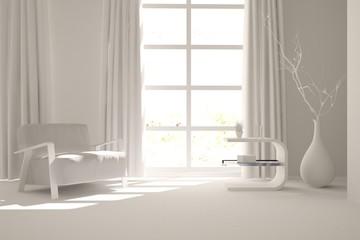 white modern interior design