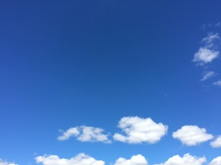 Blue sky background.photo by smartphone.