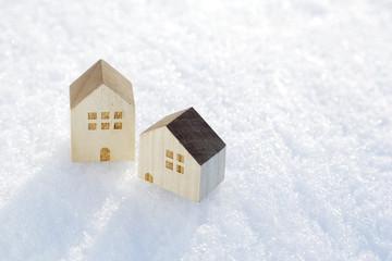 雪と家 イメージ Snow and house image