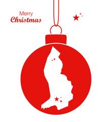 Merry Christmas Map Liechtenstein