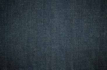 Texture of dark blue jeans background
