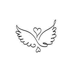 ангельские крылья и любовь