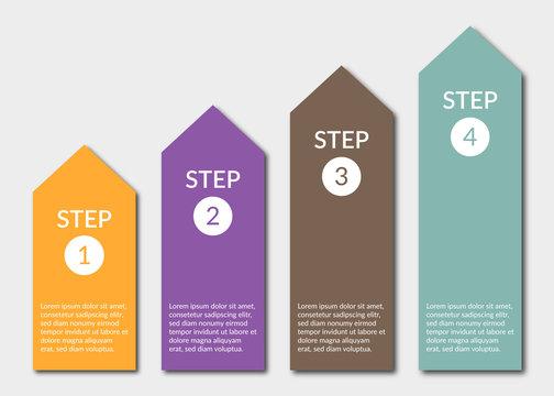 Infografik Stufen