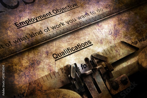 quot resume on vintage typewriter quot stock photo and royalty
