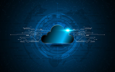 abstract vector cloud technology internet data services concept innovation design background