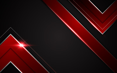 abstract v shape arrow sharp modern tech sport gamer design concept background layout