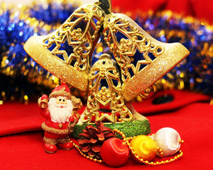 Christmas design on the wooden background