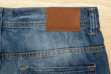 Jeans Nahaufnahme mit Textur vom Stoff