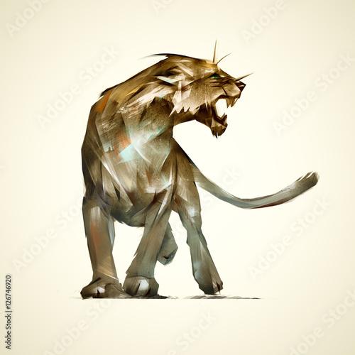 sketch predatory animal lioness