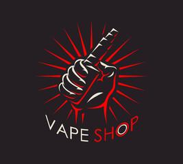 Vape shop logotype