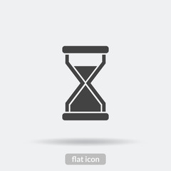 Time loading icon, Black vector is type EPS10