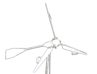 Outlines of the wind turbine