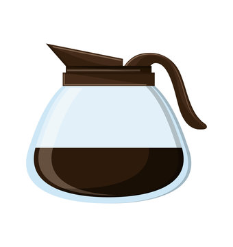 Coffee pot icon. Kitchen supply domestic and household theme. Isolated design. Vector illustration