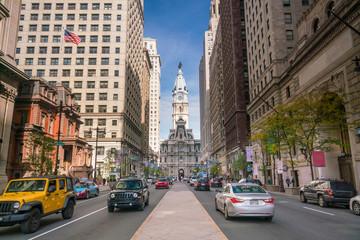 Street view of downtown Philadelphia