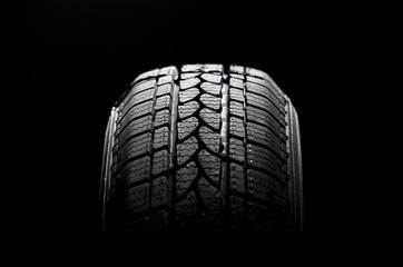 Black car tire