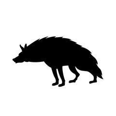 Hyena vector illustration style Flat