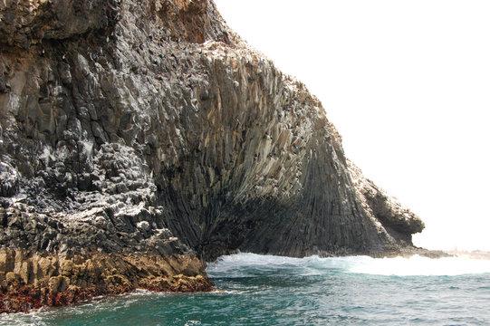 Cliffs and Surf, Madeline Islands, Senegal